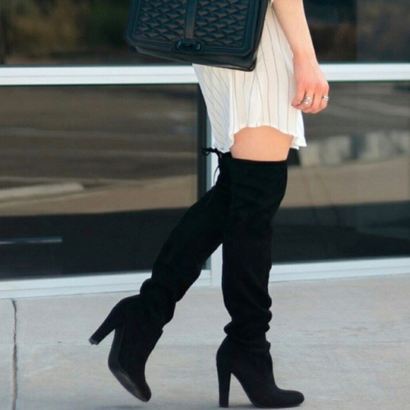 f9a84f5897c Steve Madden Gorgeous Over The Knee Black Boots. M 5bc10f0d035cf1f56f0d7c66
